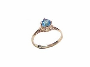 Women's 14k Gold Ring-Plus Size Ring-CZ Size 12