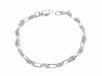 Women�s Plus Size Bracelet-Sterling Silver Oval Fancy