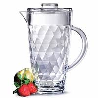 Harlequin Faceted Acrylic Pitcher