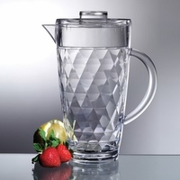 Acrylic Diamond Cut Pitcher - 70 Oz.
