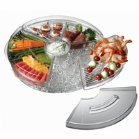 Appetizers on Ice Tray with Lid