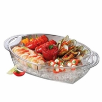 Buffet on Ice Oval Serving Tray