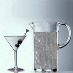 Classic Unbreakable Polycarbonate Plastic Martini Glass & Pitcher Set