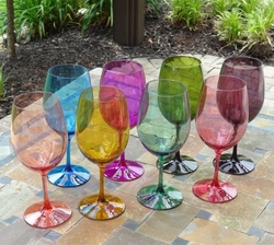 Colorful Unbreakable BPA-Free Wine Glass Set - 20 Oz.