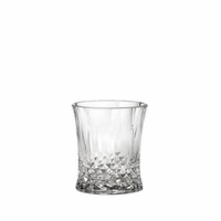 Cut Crystal-Look Old Fashioned Glass