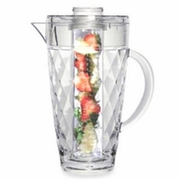 Harlequin Faceted Fruit Infusion Acrylic Pitcher