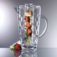 Diamond Acrylic Fruit Infusion Pitcher - 2 Qt.