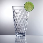 Diamond Cut Acrylic Tall Tumbler - 18 Oz.