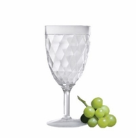 Harlequin Faceted All-Purpose Acrylic Wine Glass