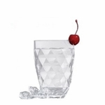 Harlequin Faceted Acrylic Double Old Fashion Acrylic Tumbler