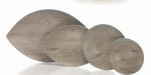 Driftwood-Look Melamine Dinnerware and Platters