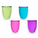 Keep-Kool Double Wall Insulated Colorful Cups (Set of 4)