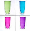 Keep-Kool Double Wall Insulated Colorful Tall Cups (Set of 4)