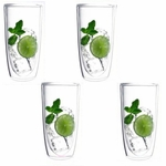 Keep-Kool Double Wall Insulated Clear Tall Acrylic Tumblers (Set of 4)