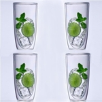 Keep-Kool Double Wall Acrylic 20 Oz. Tall Tumbler Set/4 - Clear