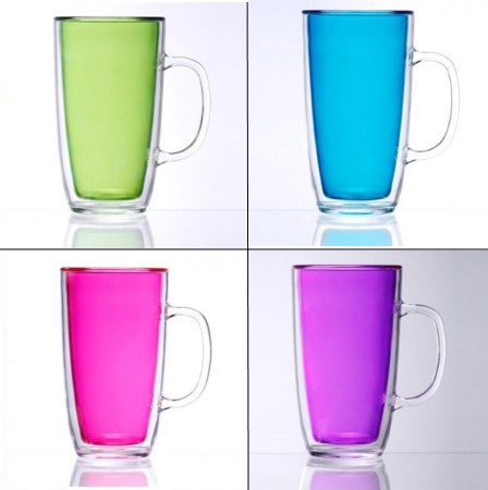 Keep-Kool Double Wall Insulated Colorful Mugs (Set of 4)