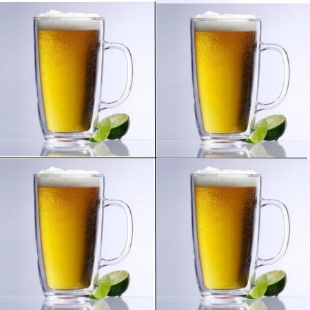 Keep-Kool Double Wall Insulated Clear Mugs (Set of 4)