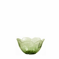 Lettuce Leaf Embossed Green Acrylic Individual Bowl