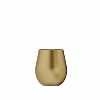 Metallic Gold Acrylic Stemless Wine Glass - 14 oz.