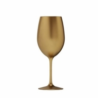 Metallic Gold Acrylic Wine Glass - 12 oz.
