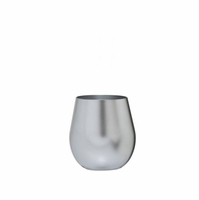 Metallic Silver Acrylic Stemless Wine Glass - 14 oz.