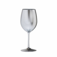 Metallic Silver Acrylic Wine Glass - 12 oz.
