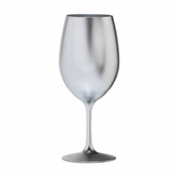 Metallic Silver Acrylic Wine Glass - 20 oz.