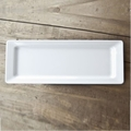 QSQuared Diamond White Long Rectangular Platter - 21 x 7 In.