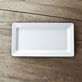 QSquared Diamond White Small Rectangular Melamine Platter - 14 x 7 In.