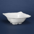 QSQuared Ruffle White Square Melamine Bowl - 12-1/2 In