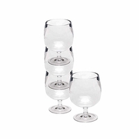 Stacking Acrylic Wine Glasses in Tube (set of 4)