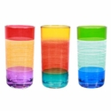 Striped Acrylic Tumblers (Set of 3)
