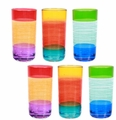 Striped Acrylic Tumblers (Set of 6)