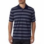 puremotion® Textured Stripe Polo: (A123)