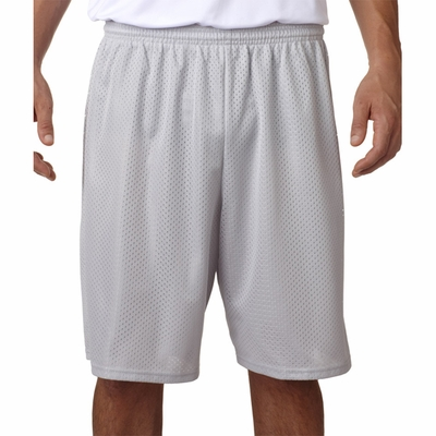 A4 Men's Shorts: 100% Polyester Lined Tricot Mesh 9-Inch Inseam (N5296)