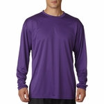 A4 Men's T-Shirt: 100% Polyester Cooling Performance Long Sleeve (N3165)