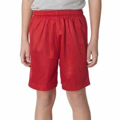 A4 Youth Shorts: 100% Polyester Lined Tricot Mesh 6-Inch Inseam (NB5301)