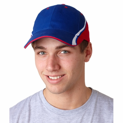 Adams Headwear Cap: Dominator 100% Heavy Brushed Cotton w/ Embroidered Stripe (DO102)