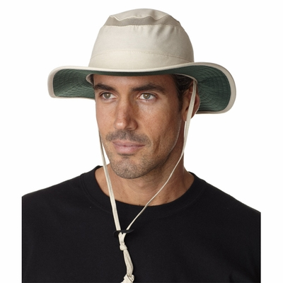Adams Headwear Safari Cap: Outback Safari Stain Resistant UV Protected (OB101)