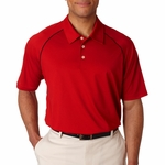 adidas Men's Polo Shirt: Climalite Piped Pique Colorblock (A82)