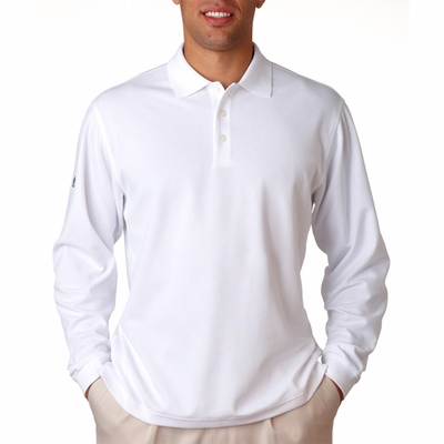 adidas Men's Polo Shirt: ClimaLite Tour Pique Long-Sleeve (A86)