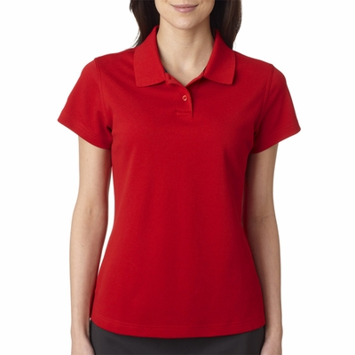 adidas Women's Polo Shirt: ClimaLite Tour Pique Short-Sleeve (A85)