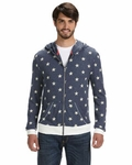 Alternative Mens Eco Long-Sleeve Printed Zip Hoodie: (AA1970P)