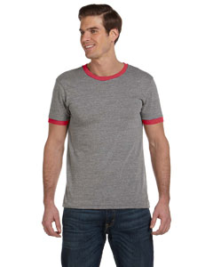 Alternative Men's Contrast Ringer Crew T-Shirt: (AA2072)