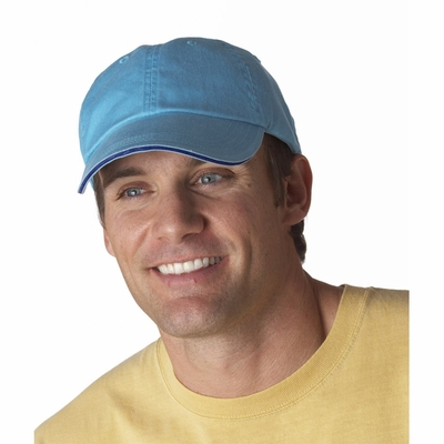 Anvil Cap: 100% Cotton 6-Panel Pigment-Dyed Twill Sandwich (166)