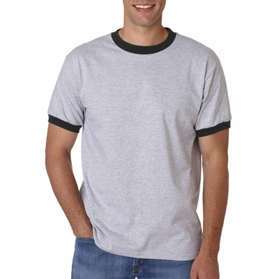 Anvil Men's T-Shirt: 100% Cotton Ringer (923)