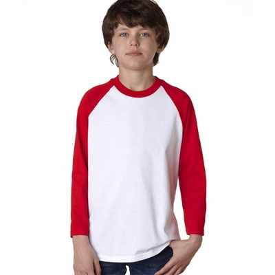 Anvil Youth T-Shirt: 100% Cotton Raglan Baseball (2184B)