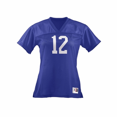 Augusta Sportswear Junior Women's T-Shirt: 100% Polyester Tricot Mesh Replica Football (250)
