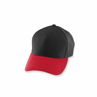 Augusta Sportswear Men's Cap: 100% Polyester Athletic Mesh Low Profile 6-Panel (6235)
