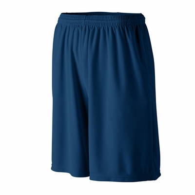 Augusta Sportswear Men's Shorts: 100% Polyester Wicking Mesh Longer Length 9-Inch with Pockets (803)